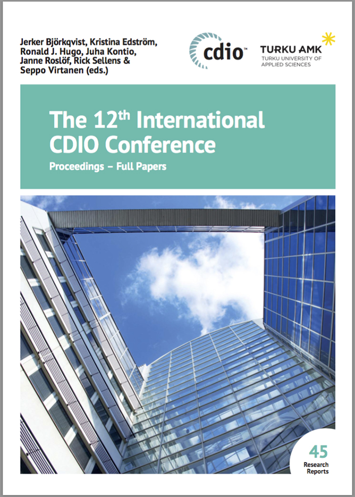 CDIO Proceedings 2016 Cover